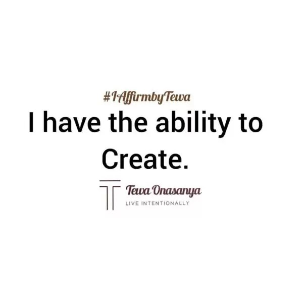 Mindset shift with Tewa- I Have The Ability To Create 1