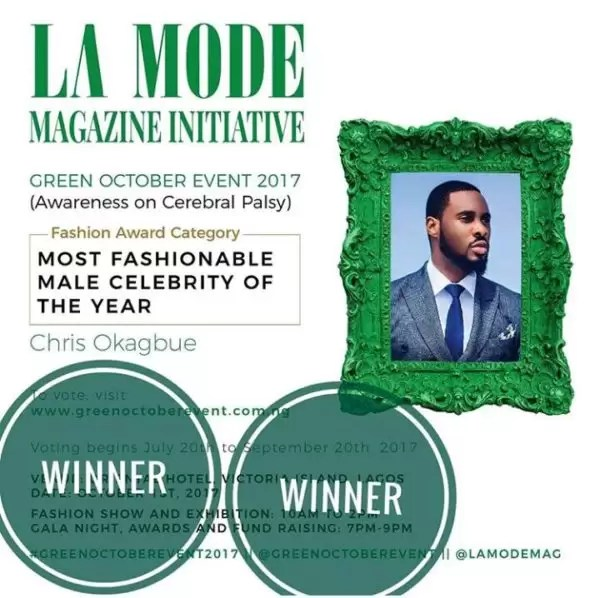 Chris Okagbue- The Most Fashionable Male Celebrity 2017 1