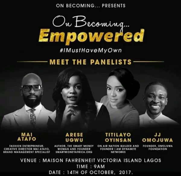 Meet the penalists for the On Becoming #IMustHaveMyOwn 1