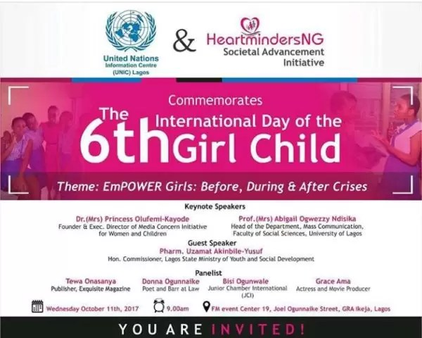 International Girl Child Day-  Empower Girls: Before, During and After Crisis 1