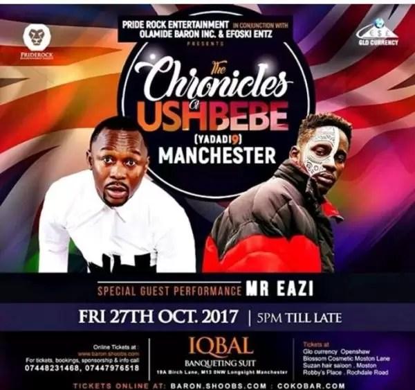 Chronicles of Ushbebe Manchester 1