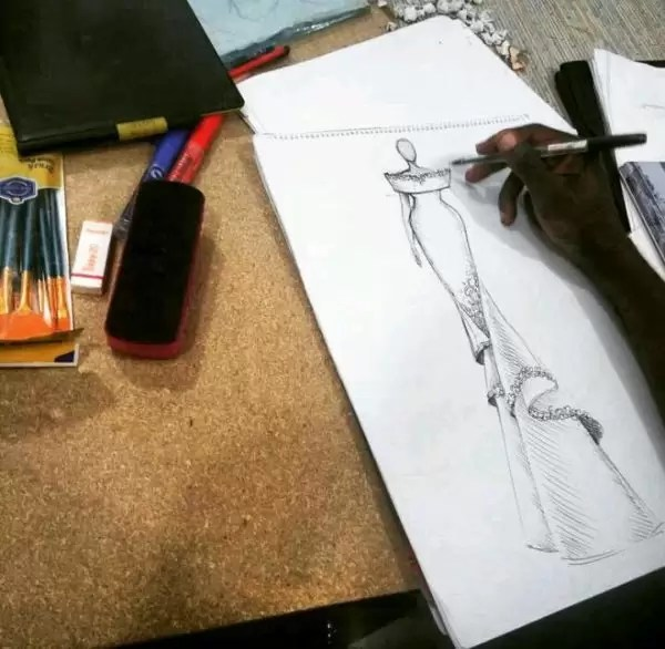 Fashion illustrator, Celafrique is one of the fashion illustrators at gtbankfashion weekend 2
