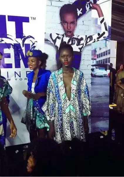Eki Orleans displays her new collection 'Journey through the Deep' ss18 at LFDW 8