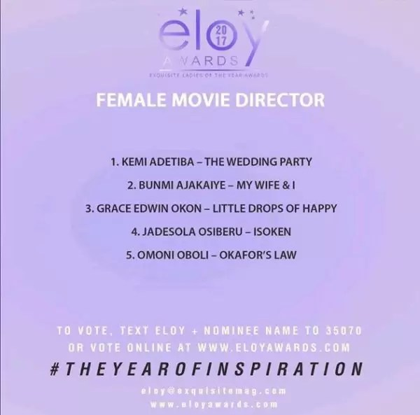Eloy Awards nominees list:More categories on release!!! 2