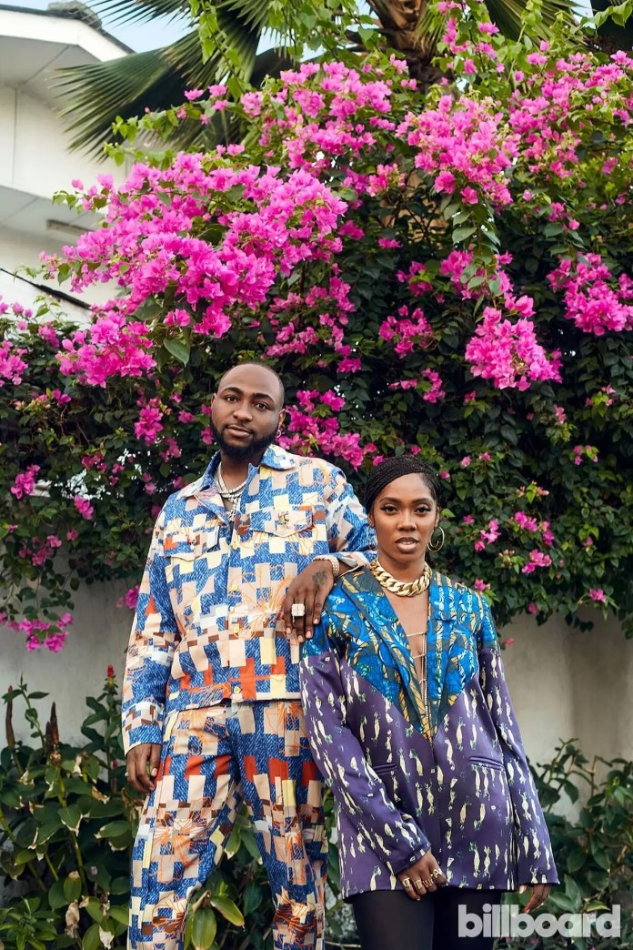 Get The Deets On Every African Designer Tiwa Savage, Davido & Mr Eazi Wore On The New Billboard Cover! 1