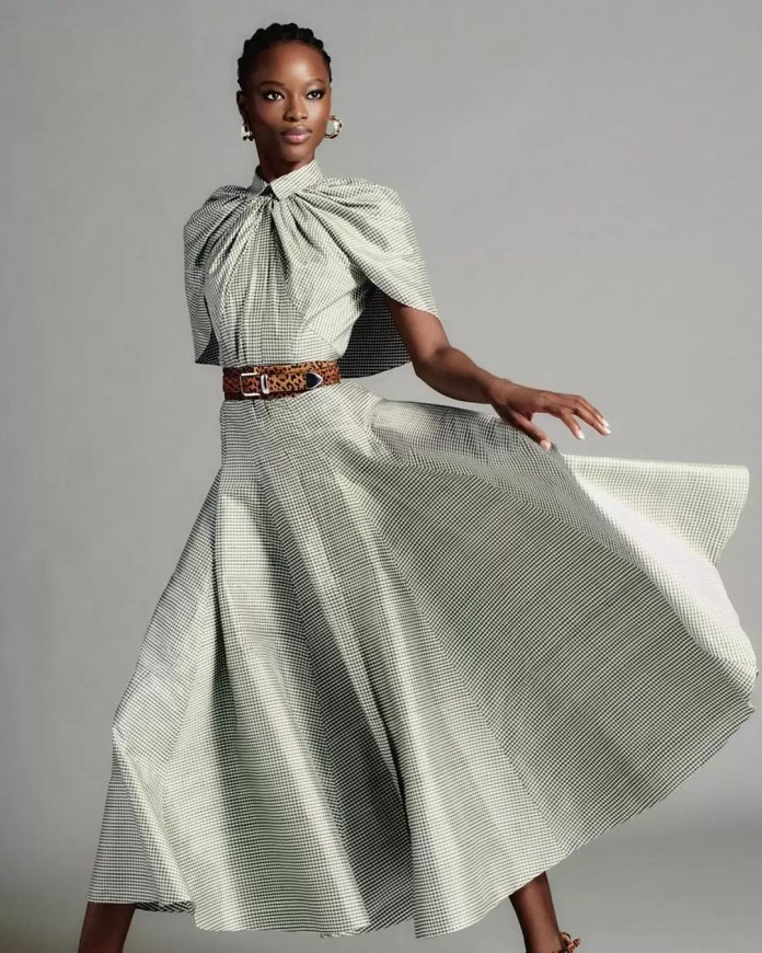 Take A Look At Brandon Maxwell's Lookbook Featuring Mayowa Nicholas For His Pre-Spring Collection 8