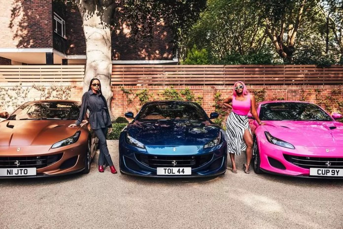 Father Of The Year Alert! Femi Otedola Gifts Ferraris To His Three Daughters, And Cuppy Got A Pink One 6