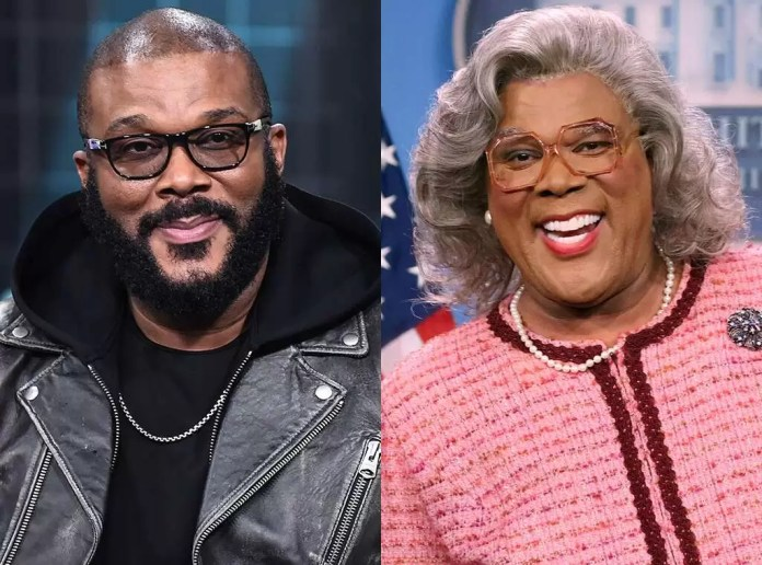 Tyler Perry as himself and as Madea (a character from one of his most popular movies)