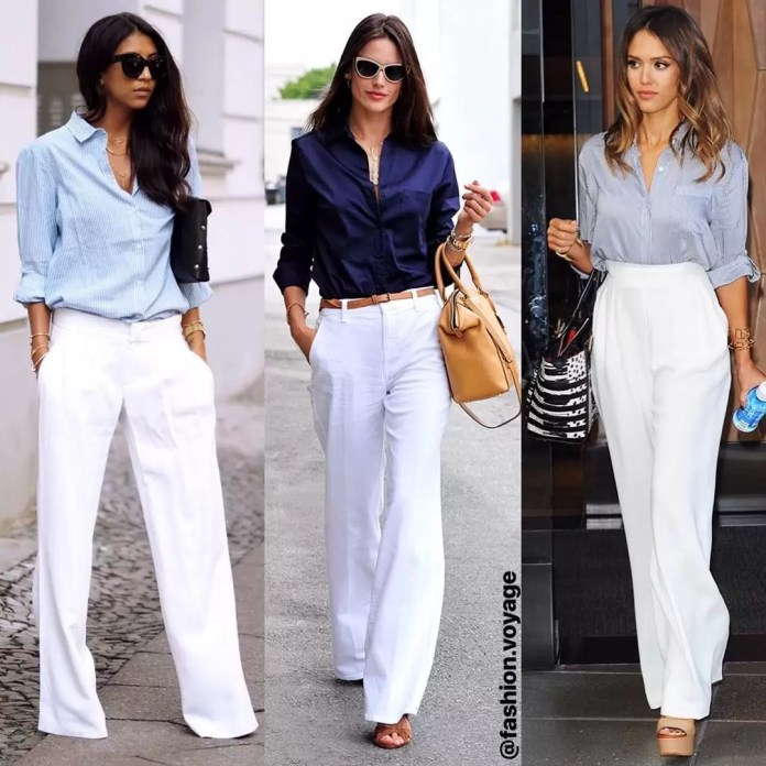 Ladies, It's Time To Get Your Blue Game On With These Awesome Blue Shirt Outfit Ideas 7