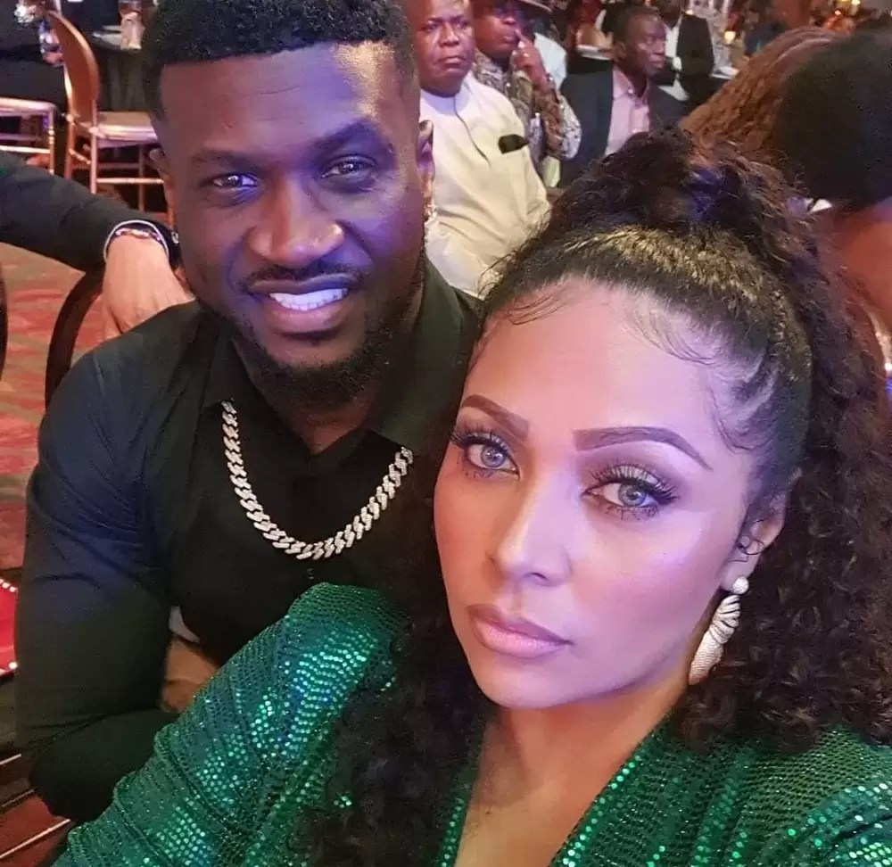 peter Okoye and his wife