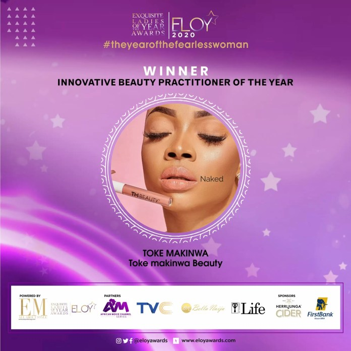 Tolu Bally, Toke Makinwa and More Emerge As The ELOY Awards 2020 Winners 7