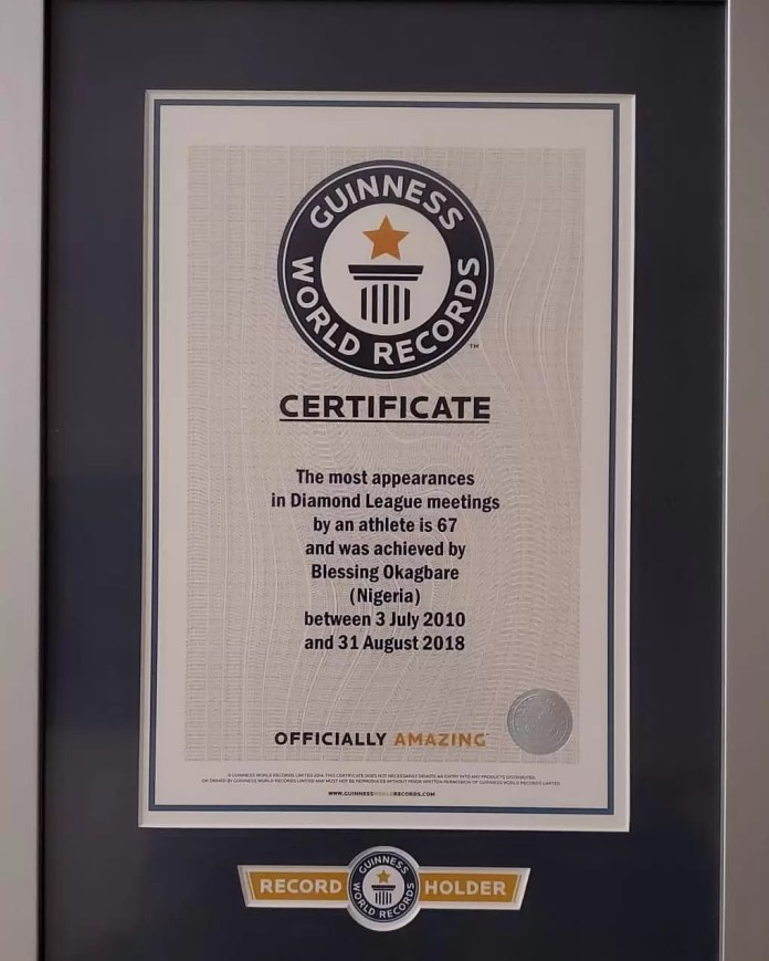 Blessing Okagbare is Now a Guinness World Record Holder 1