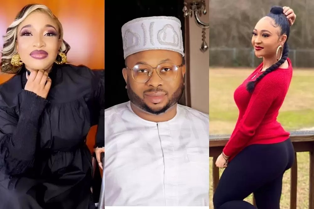 tonto dikeh, churchill and rosy