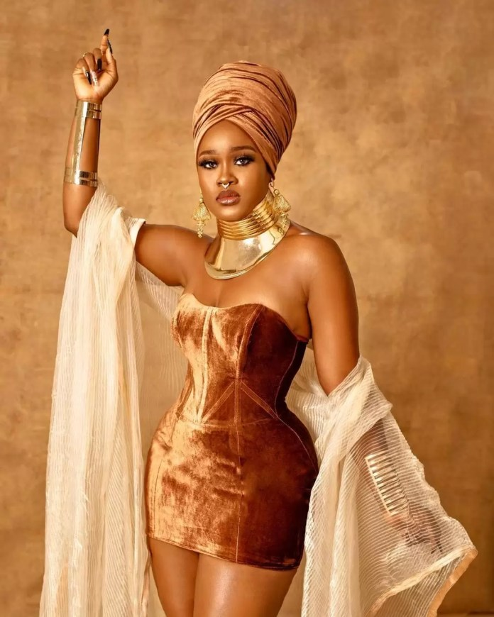 """Our Favorite Nigerian Celebrites """"African Royalty"""" Outfit To 'Coming 2 America 2' Premiere/Cee c"""