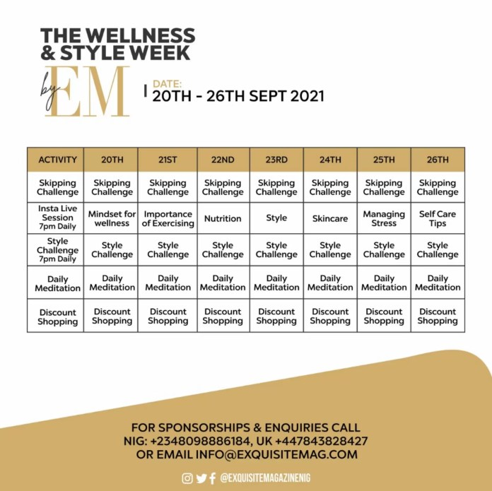 The Wellness and Style Week by EM 1