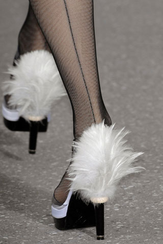 Chanel's Plumed Pumps