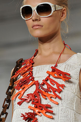 Oscar de la Renta SS09 Coral Necklace on Exshoesme.com