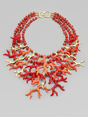 Kenneth Jay Lane Coral Reef Necklace on Exshoesme.com