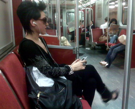Catherine - rocking out on the TTC