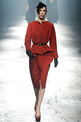 Red Lanvin FW09 Suit on Exshoesme.com
