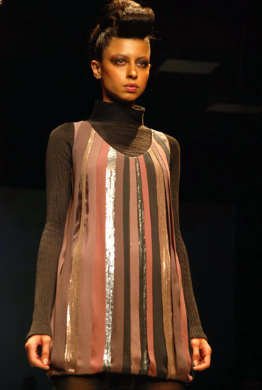 striped tunic at cue aw09