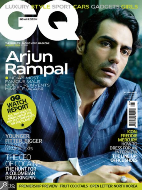 Arjun Rampal on the cover of GQ India, August 2009 as seen on exshoesme.wordpress.com