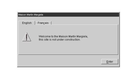 Web Warning at www.maisonmartinmargiela.com