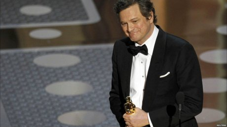 Colin Firth accepting for Best Actor Oscars 2011 on exshoesme.com