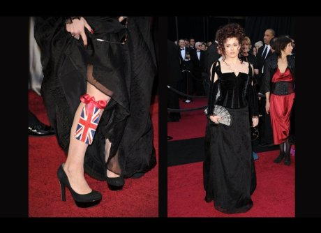 Helena Bonham Carter at the Oscars 2011 on exshoesme.com