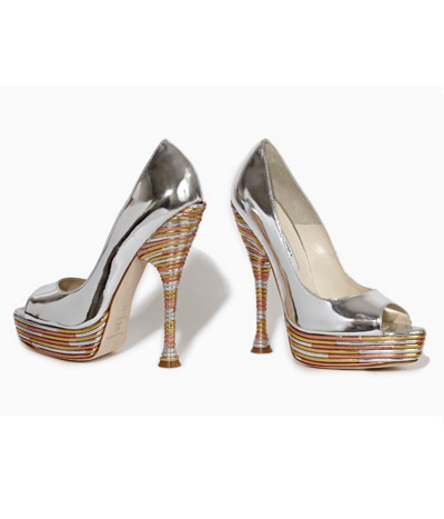Brian Atwood Silver Platforms on exshoesme.com