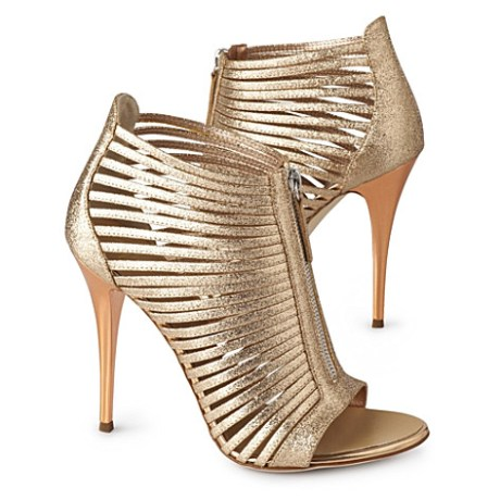 Guiseppe Zanotti metallic sandals on exshoesme.com