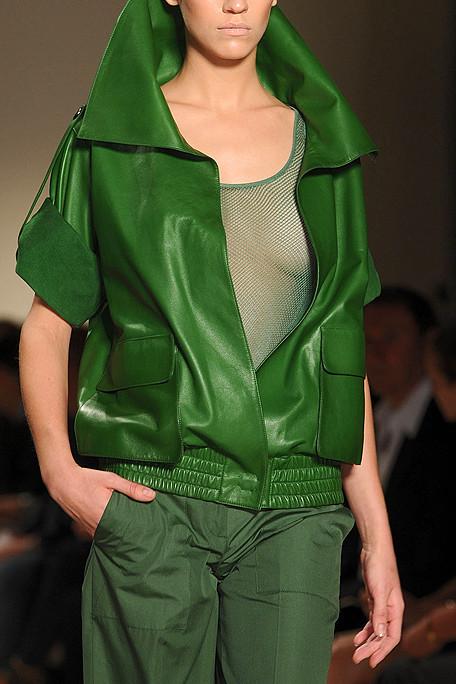 Akris SS11 Green Leather Jacket on exshoesme.com