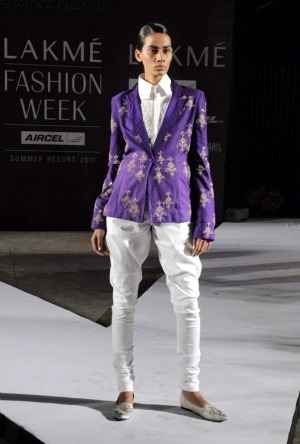 Anamika Khanna Summer Resort 2011 brocade jacket and jodhpurs on exshoesme.com