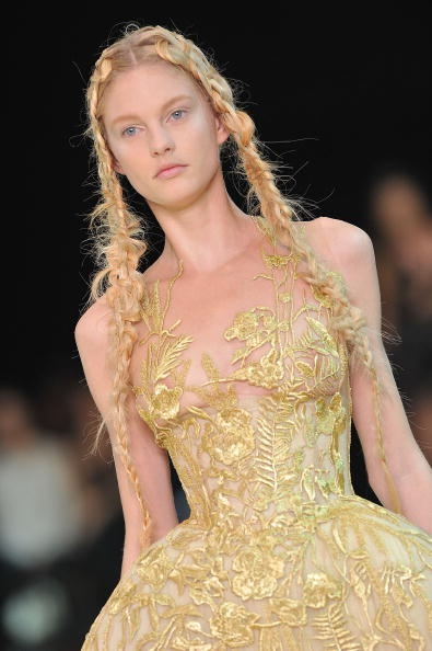 Sarah Burton for Alexander McQueen SS11 Gold Vine Gown on exshoesme.com