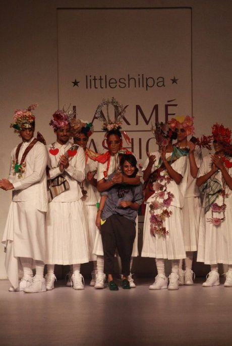 Little Shilpa Lakme Fashion Week SR11 on exshoesme.com