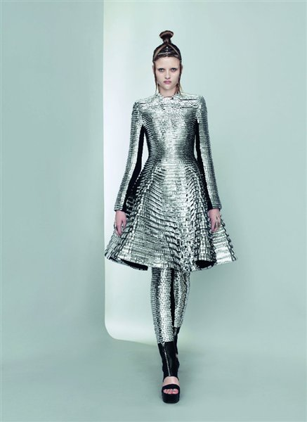 Gareth Pugh Silver Leggings and Dress SS11 on exshoesme.com