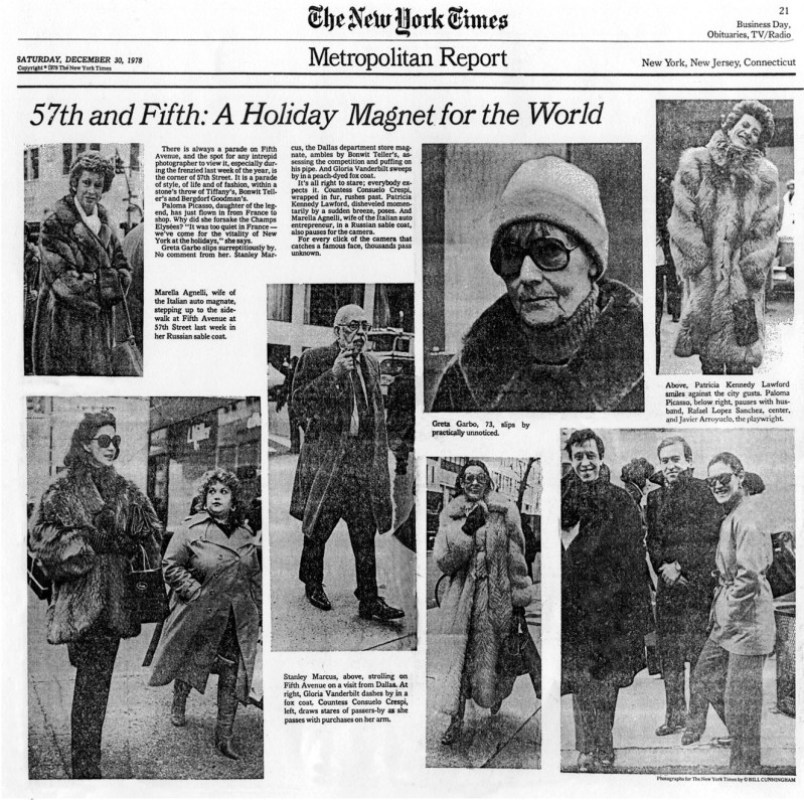 Bill's First Spread in the New York Times, December 1978 on exshoesme.com