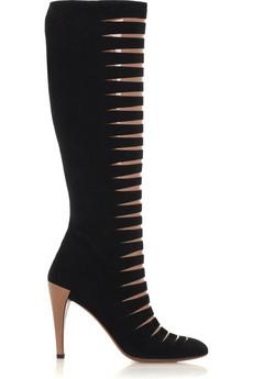 Alaia Slashed Suede Boot on exshoesme.com