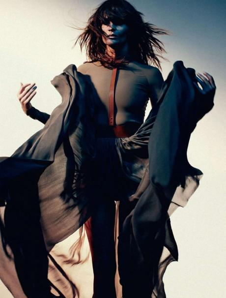 Helena Christensen for Harper's Bazaar Russia May 2011 by Luis Sanchis on exshoesme.com 2