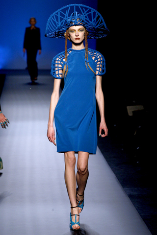 Jean Paul Gaultier SS10 Haute Couture Dress and Woven Hat on exshoesme.com