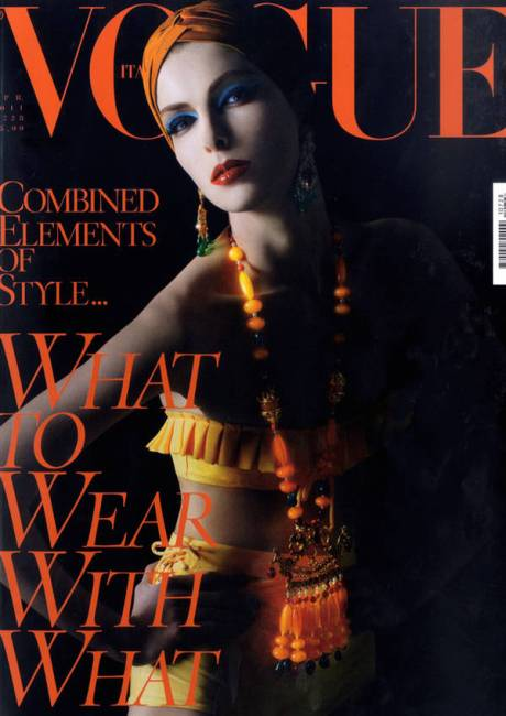 Kristina-Salinovic by Steven Meisel Cover Vogue Italia April 2011 on exshoesme.com