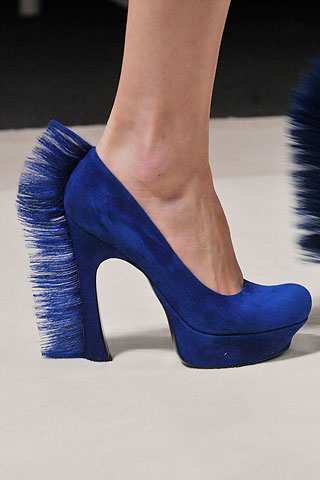YSL FW10 Mohawk Blue Suede Shoes on exshoesme.com