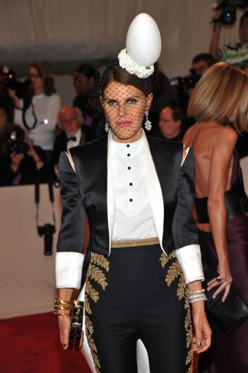 Anna Dello Russo in Alexander McQueen at the Met Ball 2011 on exshoesme.com.
