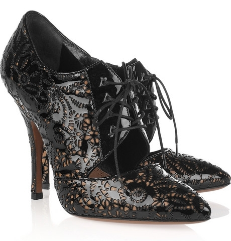 Alaia Laser Cut Lace Up Pumps 2 on exshoesme.com