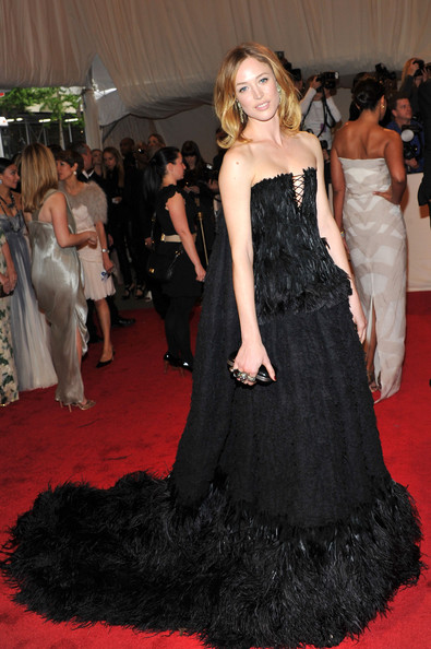 Raquel Zimmermann in Alexander McQueen FW11 at the Met Ball 2011 on exshoesme.com