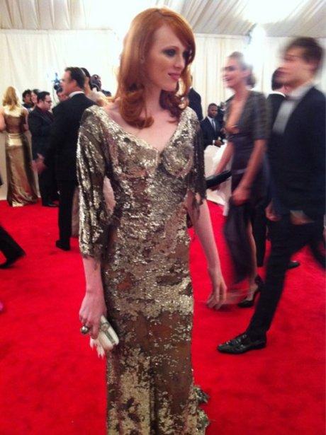 Karen Elson in Alexander McQueen SS04 at the Met Ball 2011 on exshoesme.com