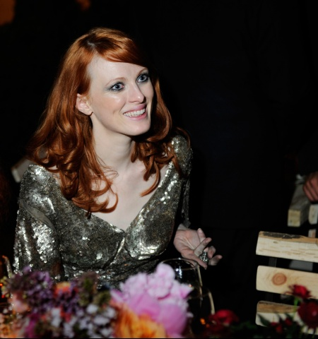 Karen Elson in Alexander McQueen SS04 at the Met Ball 2011 on exshoesme.com