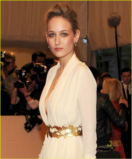 Leelee Sobieski in Alexander McQueen at the Met Ball 2011 on exshoesme.com