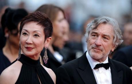 Nansun Shi and Robert De Niro at the 2011 Cannes Film Festival on exshoesme.com.