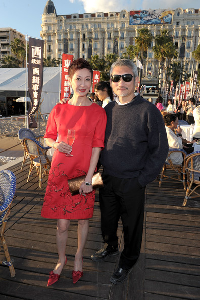 Nansun Shi with Director Tsui Hark at the 2011 Cannes Film Festival on exshoesme.com.